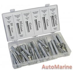 Assorted Clevis and Cotter Pin Set (56 Pieces)