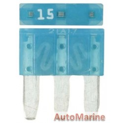 3 Pin Blade Fuse - 15 Amp - 100 Pieces