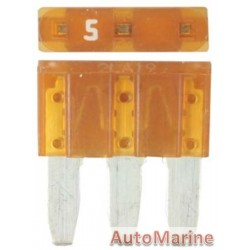 3 Pin Blade Fuse - 5 Amp - 100 Pieces