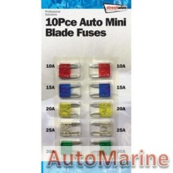 10 Piece Mini Fuse Set