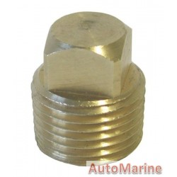 Brass Drain Plug for Garboard Plate