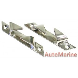 Bow Chocks - Stainless Steel -  150mm - 2 Piece