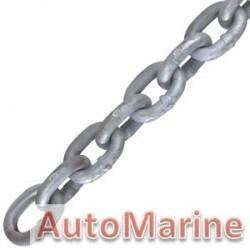 Galvanised Medium Link Chain - 7mm x 30m