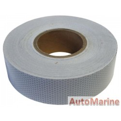 Reflective Tape - White - 50mm x 45m