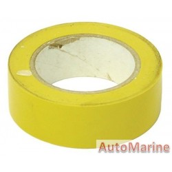 PVC Insulation Tape - Yellow - 10m
