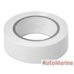 PVC Insulation Tape - White - 10m