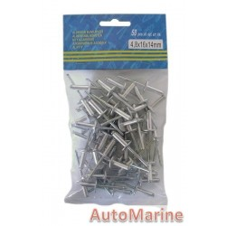 Pop Rivets - Long Flange  4.8x16x14mm - 1000 Pieces