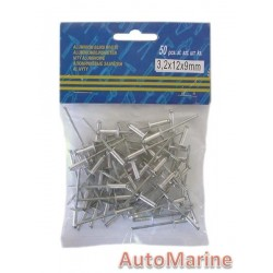 Pop Rivets - Long Flange  3.2x12x9mm