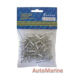 Pop Rivets - Long Flange  3.2x12x9mm - 1000 Pieces