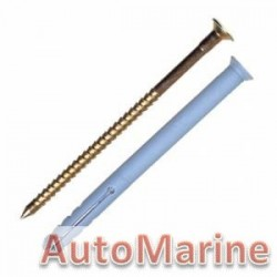 Nail In Anchor Plug - 8 x 60mm -10 Pieces