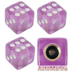 Valve Caps - Dice - Purple
