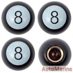 Valve Caps - 8 Ball