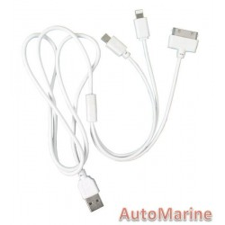 USB Charging Cable with 3 Type Fittings