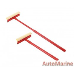 Windscreen Squeegee - Telescopic Plastic Handle