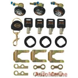 3 Door Locks with Round Keys (Solex)