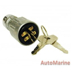 Universal Push In Ignition Switch - 4 Terminal
