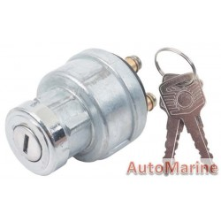 Universal Ignition Switch with Thick Barrel - 4 Terminal