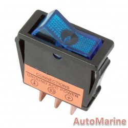 Rocker Switch - Blue - Illuminated