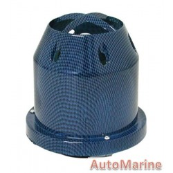 Air FIlter - Plastic Cover - 76mm - Blue