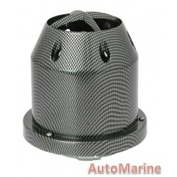 Air FIlter - Plastic Cover - 76mm - Black