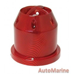 Air FIlter - Plastic Cover - 76mm - Red