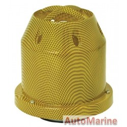 Air FIlter - Plastic Cover - 76mm - Yellow