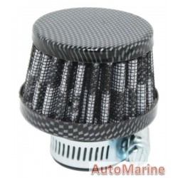 Air Filter Breather - 25mm - Carbon