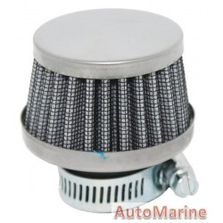 Air Filter Breather - 25mm - Chrome