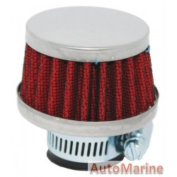 Air Filter Breather - 25mm - Red