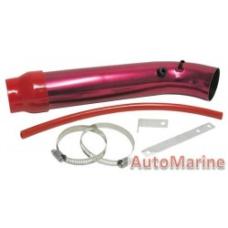 Induction Pipe - Long Bend - Red