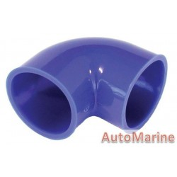 Rubber Joining Sleeve - 90 Degree - Blue