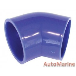 Rubber Joining Sleeve - 45 Degree - Blue