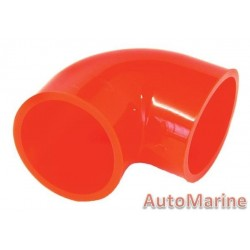 Rubber Joining Sleeve - 90 Degree - Red