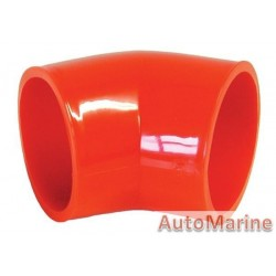 Rubber Joining Sleeve - 45 Degree - Red
