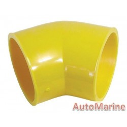 Rubber Joining Sleeve - 45 Degree - Yellow