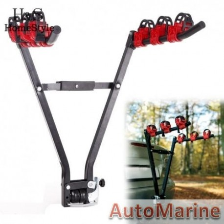 Bicycle Rack - Tow Hitch Fitting - 3 Bicycle Capacity