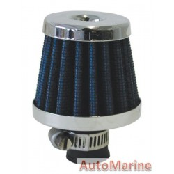 Air FIlter Breather - 12mm - Blue