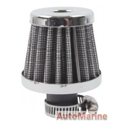 Air Filter Breather - 12mm - Chrome