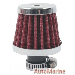 Air Filter Breather - 12mm - Red
