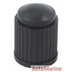 Valve Cap - Plastic - Black - 100 Pieces