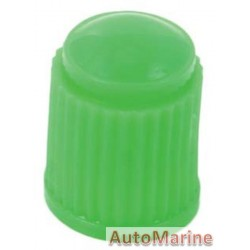 Valve Cap - Plastic - Green - 100 Pieces