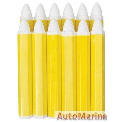 Tyre Marking Crayon - White - 12 Piece