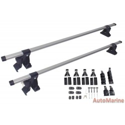 Oval Aluminium Roof Bars with 3 Types of Mount Fittings - 134cm Length