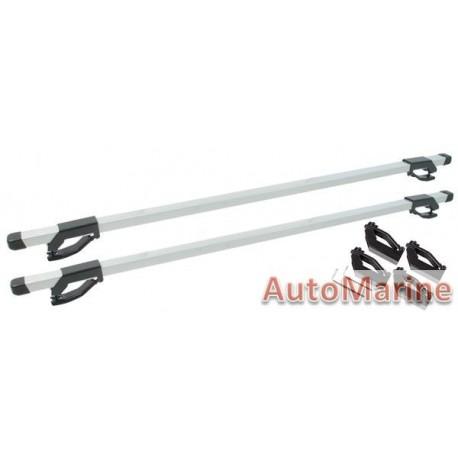 Universal Aluminium Roof Bars that fits on Roof Rails - 120cm Length