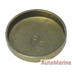 """Welch Plug - Zinc Plated - 1.75"""" (44.45mm)"""