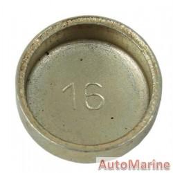 Welch Plug - Zinc Plated - 16mm