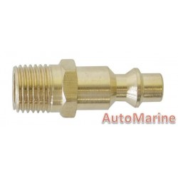 Quick Coupler - Male End / Male Attachment - Brass