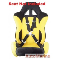Racing Car Seat Belt - Black