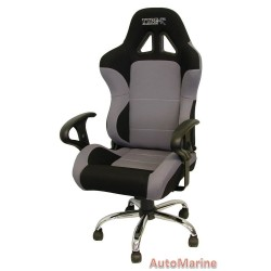 Racing Office Chair with Arm Rests - Grey