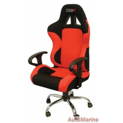 Racing Office Chair with Arm Rests - Red